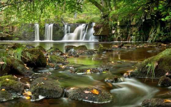 природа, landscape, водопад, пейзажи -, камни, река, неземной, красоты, you, природы,
