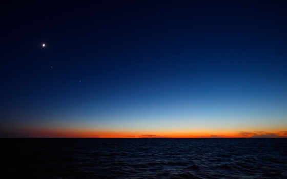 закат, морем, со,