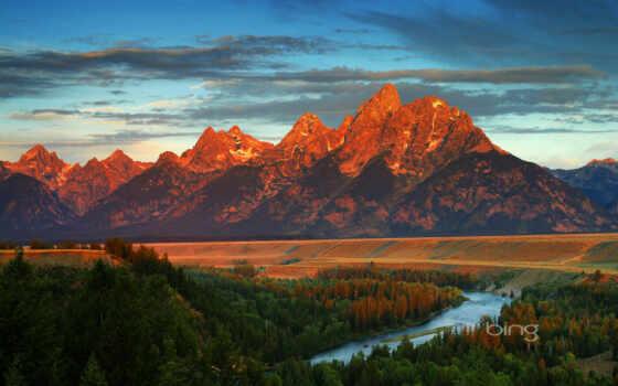 река, фото, закат, туман, озера, гора, бесконечность, overlook, snake