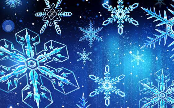 снежинки, christmas