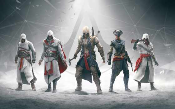 creed, assassins, assassin, коннор, альтаир, эцио, убийца, анимус, ezio, ubisoft, николай, five, years, части, game,
