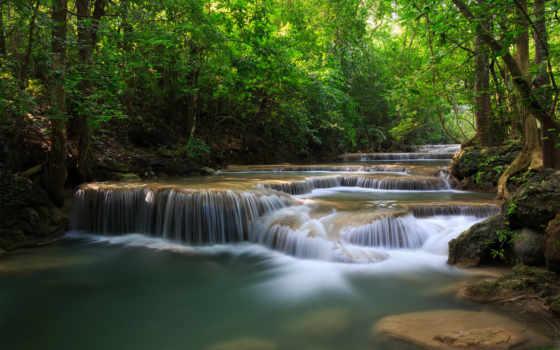 водопады, природа, река