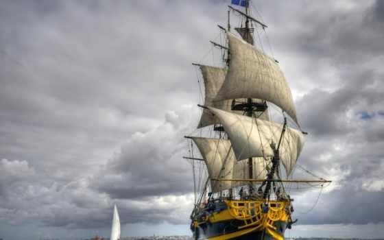 парусник, море, парусники, фрегат,