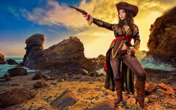 пиратка, девушка, devushki