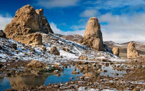 пустыня, winter, hills