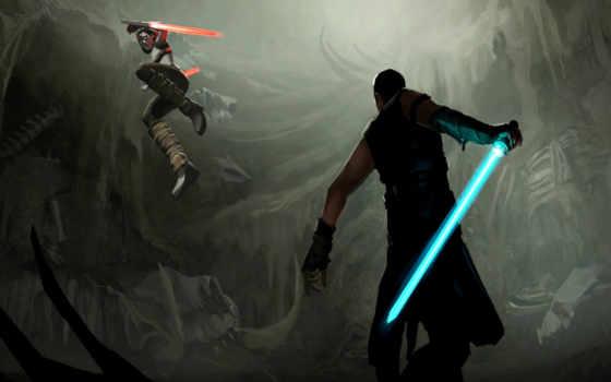 star, wars, jedi, мечи, битва, войны, sith, световые, рисунок,