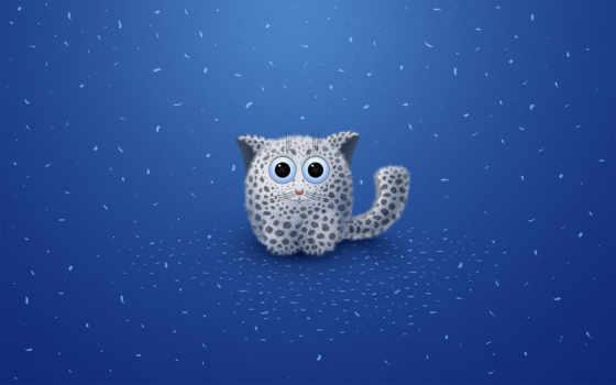 леопард, голубой, детское, пятна, существо, глаза, картинка,