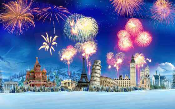 башня, winter, снег