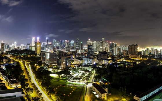singapore, обойку, ночь