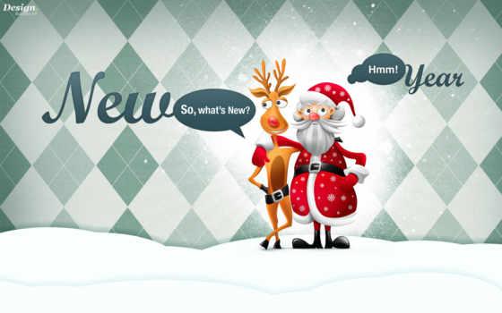 иней, дед, new, год, снегурочки,