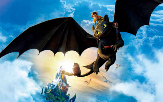 приручить, дракона, дракон Фон № 120457 разрешение 2880x1800