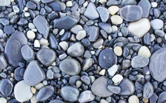 камни, галька, текстура, серая,
