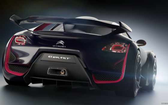 citroen, survolt, concept, citroën, rear, car, revolte, свет,