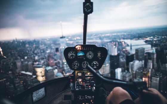 вертолет, военный, plane, взгляд