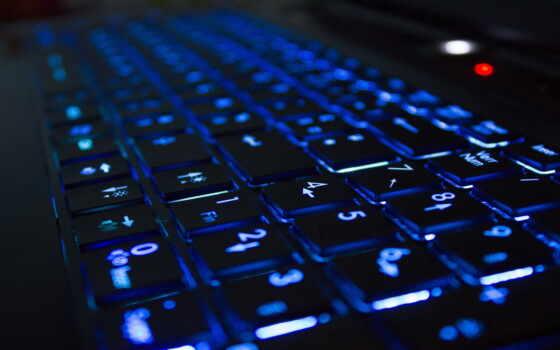 клавиатура, подсветка, neon, blue, устройство, фон, digital, компьютер, probel, картинка