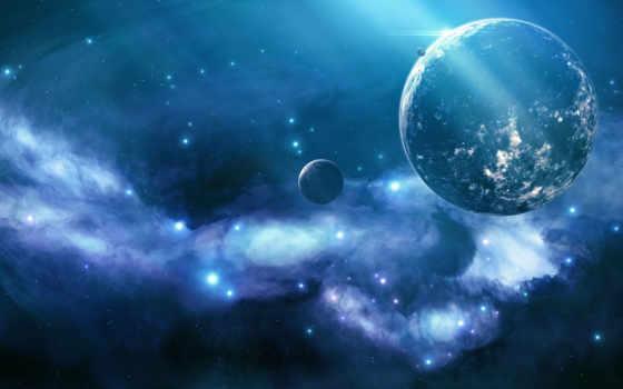 blue, космос