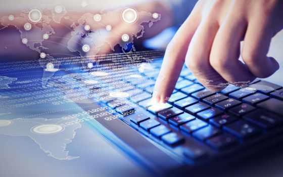 клавиатура, руки, компьютеры, информация, отпечатки, картинка, цифры, technologies, компьютер,