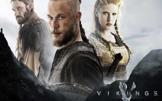 vikings, викинги, серия, drama, плакат, ecran, fond, historical, тв,