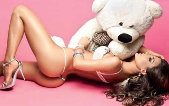 девушка, devushki, медвежонком, большой, маленькая, твоя, лежит, markizo, грудью, ukraine,