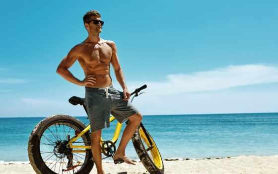 bike, место, прокатиться, мужчина, близко, тематика, wang, off, море, michael
