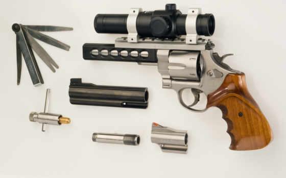 пистолет, револьвер, s&w, оптика, ствол, инструмент