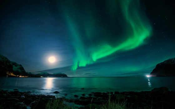 ночь, iceland, свет
