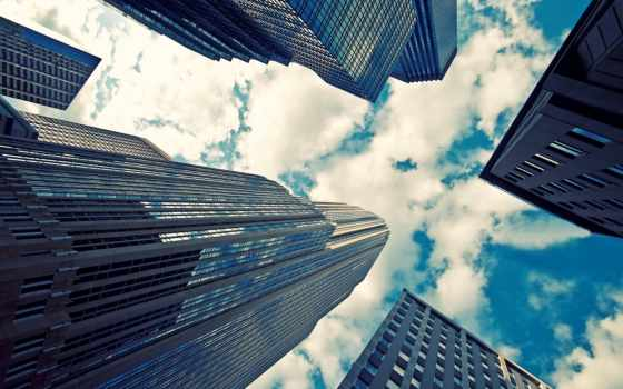 небоскребы, здания, город