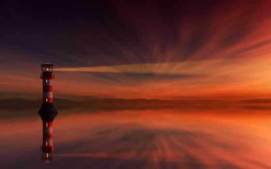lighthouse, стадо, groyne,