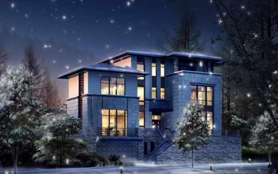 wallpapers, wallpaper, house, design, winter, современный, architecture, designs, christmas, top, تصاویر, stunning, gifleri, котедж, yılbaşı, merry,