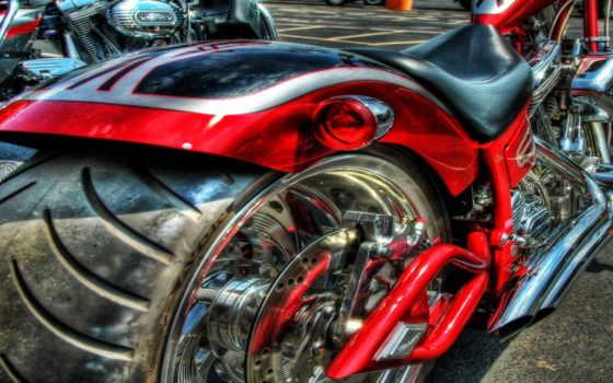 мощный мотоцикл, фантастический мотоцикл, HDR