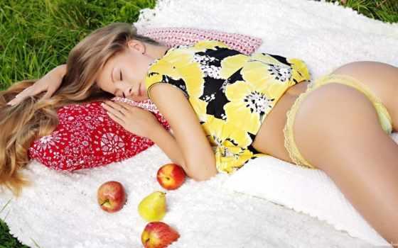 девушка, спит, плод