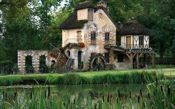 hameau, reine, versailles, château, франция, parc,