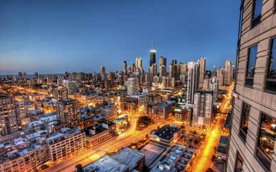 chicago, город, иллинойс, города, usa, небоскребы, смотреть,