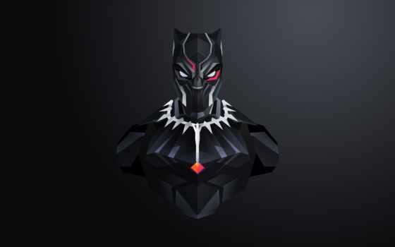 black, panther, marvel, черная, масть, минимализм, comics, submit, маска