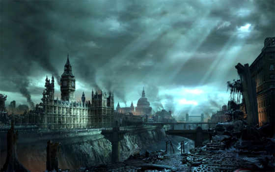 london, hellgate, апокалипсис, катастрофа, город, биг, бен, здания,