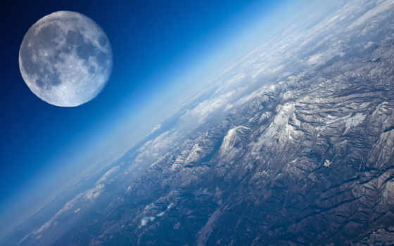 planet, land, луна