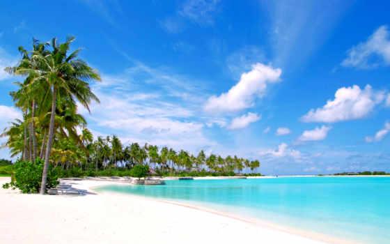 море, пляж, tropics, maldives,