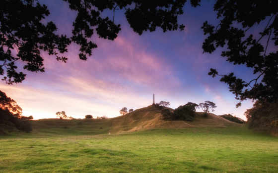 park, cornwall, auckland, город, dusk, new, zealand, free, закат,