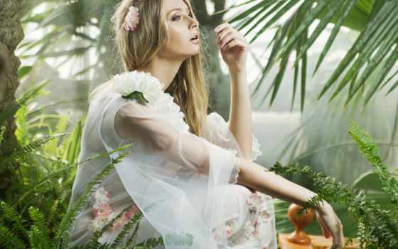 tapety, девушка, profile, kwiaty, zobacz, мар, взгляд, июнь, пл,