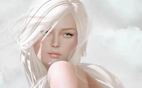 blonde, девушка, взгляд, лицо, online, свет, кбайт, прочитать, графика, книга, без,