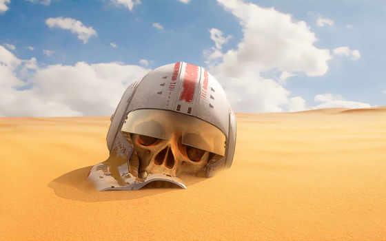 песок, пустыни, шлем, небо, войны, черепа, пустыня, звездные, fantasy, zoom,