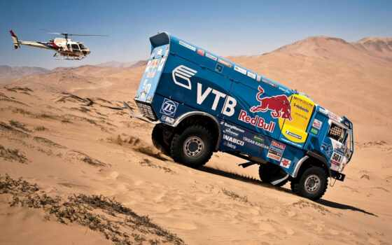 dakar, rally, камаз, red, bull, песок, truck, car, blue, master