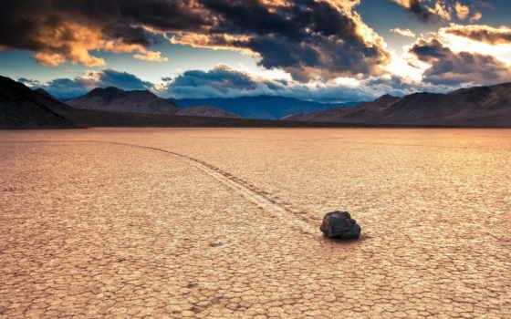 пустыня, камни, небо, камень, пустыне, песок, одинокий,
