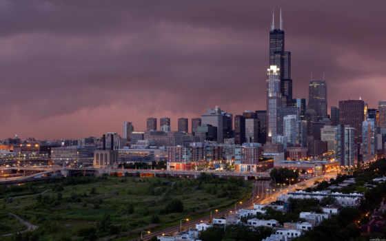 chicago, дома, дороги, сирс, башня, город, sears, китаянка,