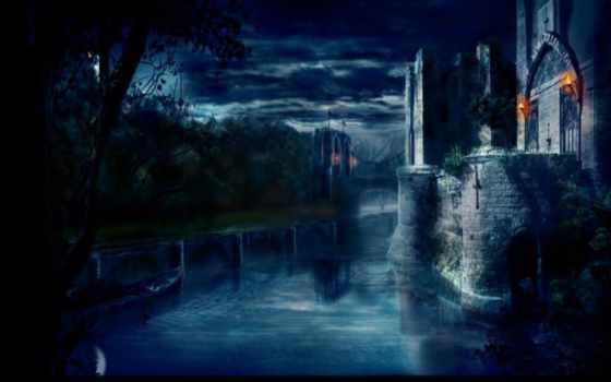 оригинал, озеро, free, resolutions, desktop, castle, изображение,