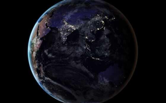 earth, ночь, nasa, planet, оказывать, спутник, release, new