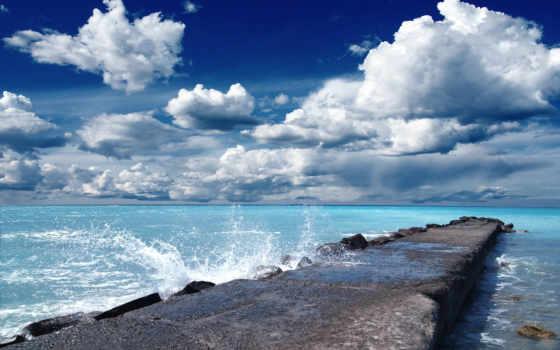 море, воды, брызги