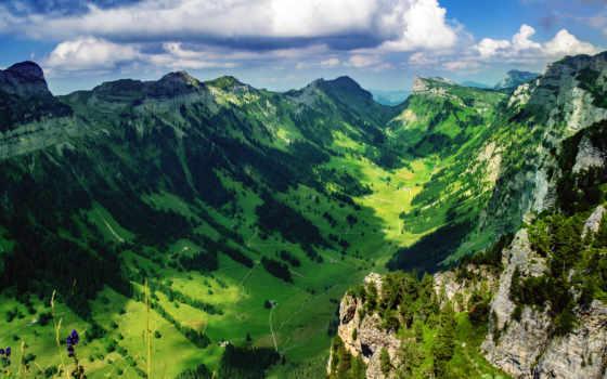 швейцария, mountains, изображение, free, desktop, долина, фото, природа, тематика,