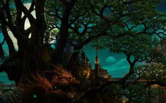 art, город, ночь