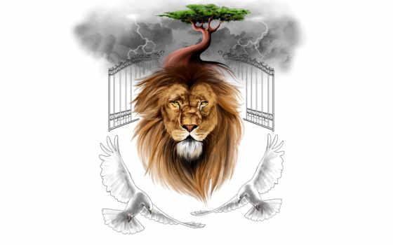 lion, iphone, живопись, минимализм, desktop, vividscreen, kenya,